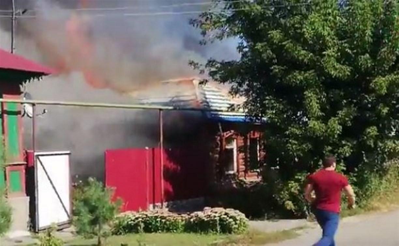 Названа возможная причина пожара на ул. Карла Либкнехта в Туле