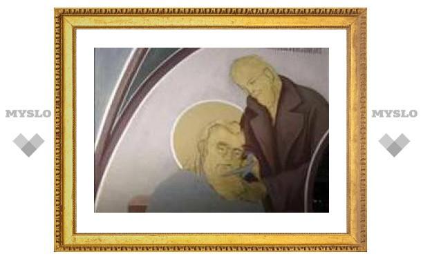 На фреске в греческом православном храме изобразили Ленина