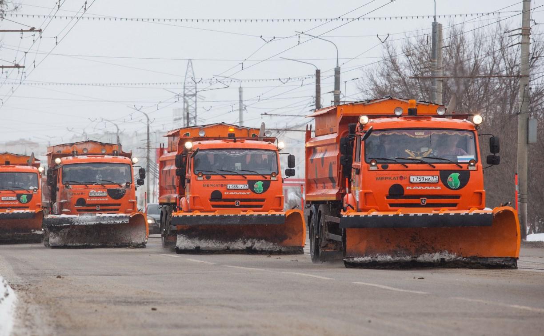 Тульские улицы от снега убирают 89 единиц техники