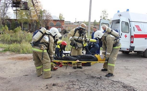 Тульские спасатели провели пожарно-тактические учения