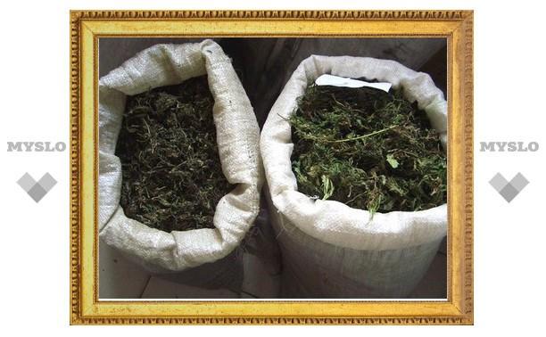 В Туле нашли два мешка марихуаны