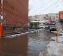 Ситуацию с лужами у дома №3 на ул. Лейтейзена частично решат до 19 февраля