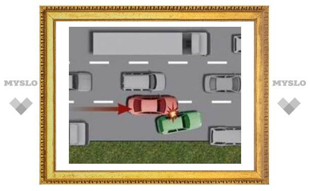"""Иногда водителю не стоит уходить от столкновения, когда его """"подрезают"""""""