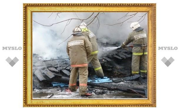 Под Тулой заживо сгорел мужчина