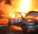 На улице Менделеевской в Туле сгорела иномарка