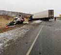 В Венёвском районе «Киа» протаранила встречный грузовик