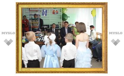 Ефремовские детишки спели губернатору частушки