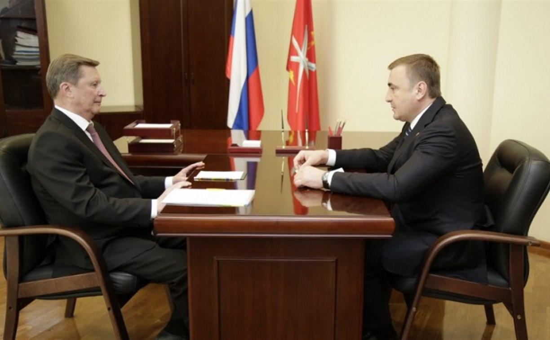 Сергей Иванов поддержал инициативы Алексея Дюмина по развитию Тульской области