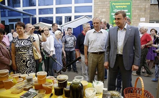 Алексей Дюмин посетил региональную фермерскую ярмарку