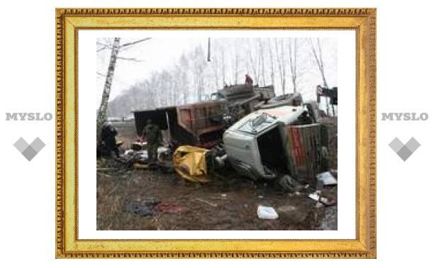 Под Тулой из-за аварии случилась километровая пробка