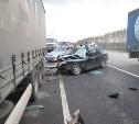 На трассе «Дон» в столкновении грузовика «Скания» и легковушки «Дэу» погила молодая женщина