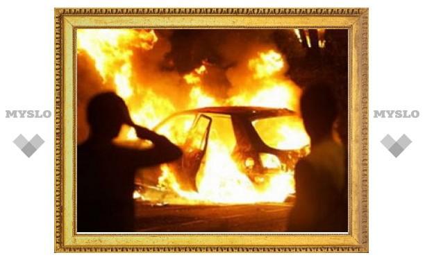 За прошедшую ночь в Щекино сгорело два автомобиля