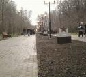 Двое шестиклассников испортили табличку на Аллее Памяти в Центральном парке