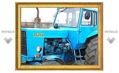 Под Тулой украли прицеп от трактора