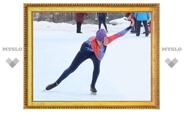 В Туле прошли соревнования конькобежцев