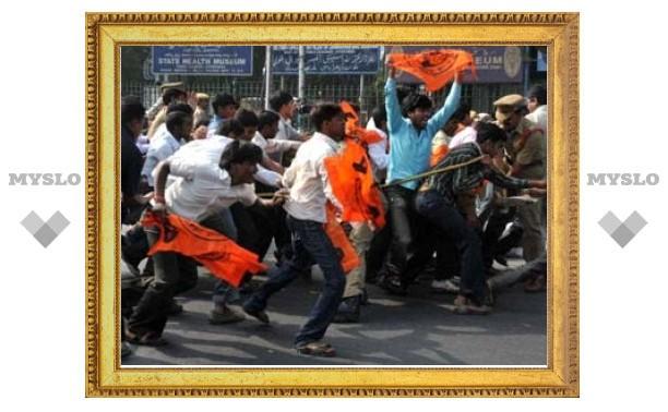 Сотни индийских студентов арестованы в ходе протестов в Хайдарабаде