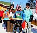 Под Тулой семейные команды горнолыжников разыграли призы
