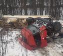 В Тульской области 30-летний водитель опрокинул Scania в кювет