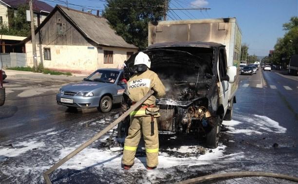 Посреди проезжей части на ул. Болдина сгорела грузовая «Газель»