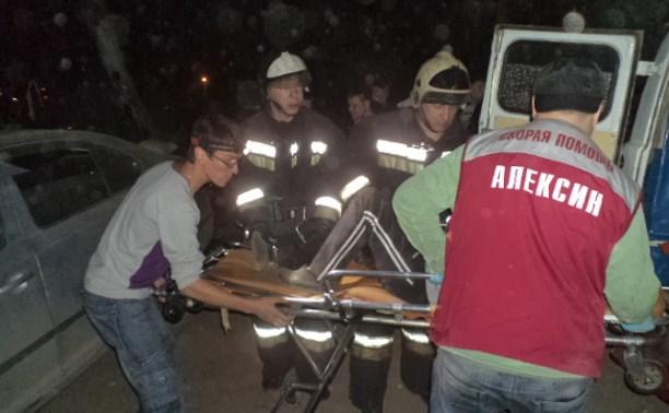 В аварии в Алексине пострадали водитель и пассажиры «Шкоды»