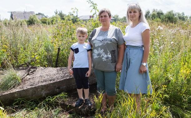 В Тульской области семья с ребенком прописана на… бетонной плите