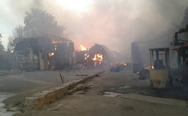 На пожаре в типографии «Шар» никто не пострадал