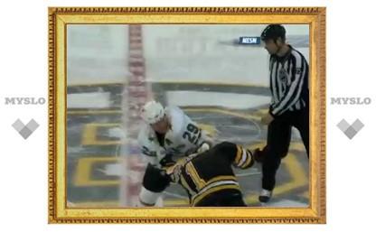 Команды НХЛ устроили драку на первой секунде матча