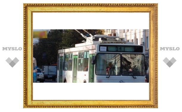 В Туле остановились троллейбусы