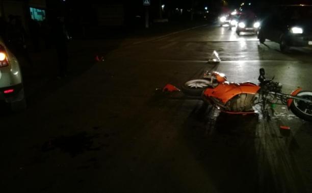 Под Щёкино подросток на ВАЗе вылетел на встречку и снёс мопед