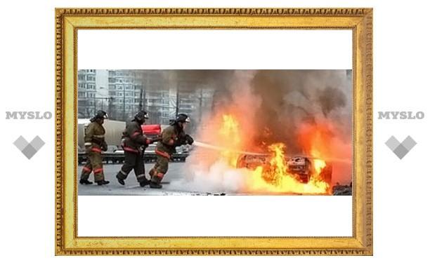 Под Тулой опять горят машины