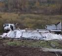На М-2 «Крым» фура опрокинулась в кювет