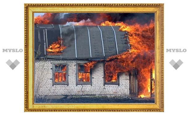 Под Тулой сгорела дачница