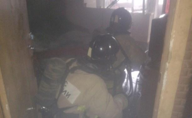 Из горящей квартиры в Новомосковске пожарные спасли двух человек