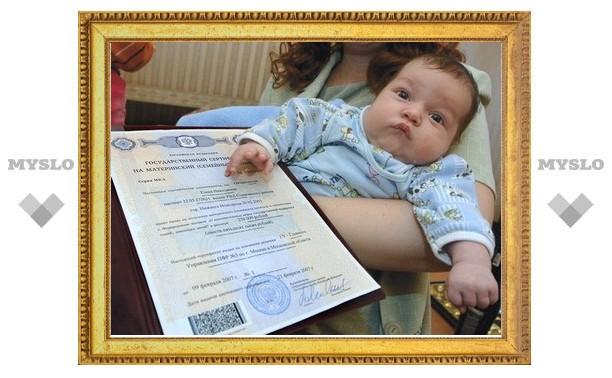 Владимир Груздев вручил материнский капитал тульским мамам