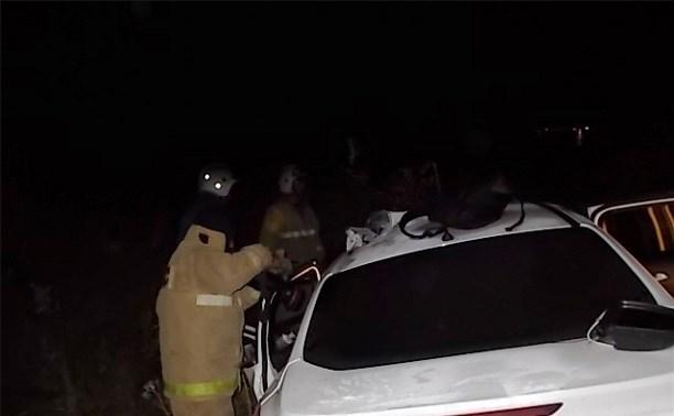 Ночью под Тулой столкнулись «Форд» и ВАЗ-2114