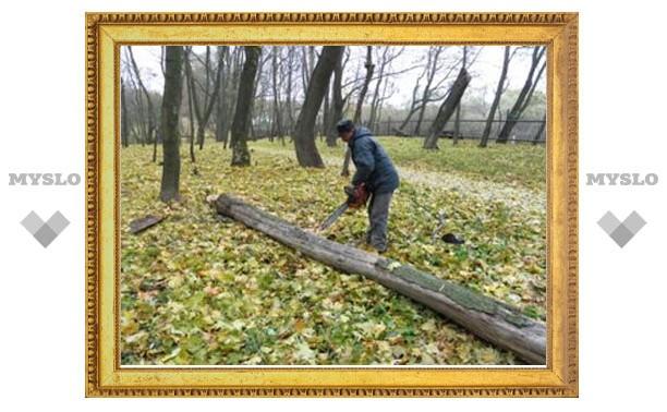 Безработные облагородили парк дворца-музея
