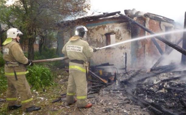 Утром 9 июня в Чернском районе сгорел дом