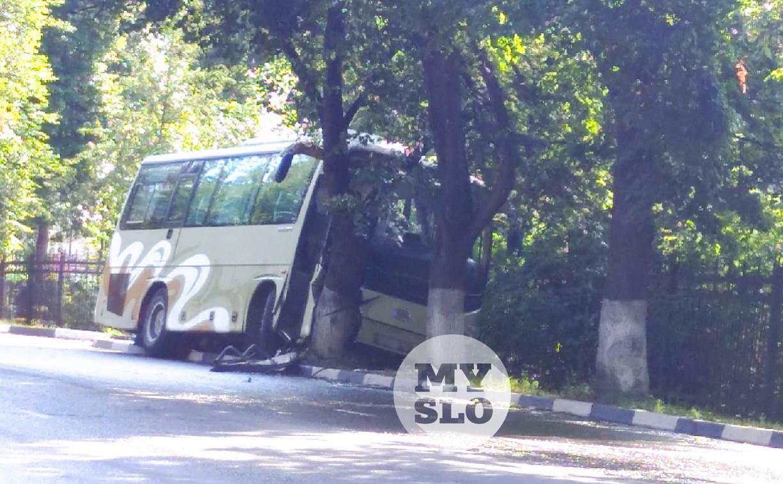 В Туле около Кировского сквера автобус влетел в дерево