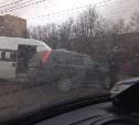 На Зеленстрое произошло ДТП с маршруткой и кроссовером