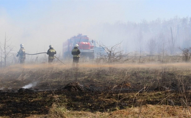 Учения: в Богородицком районе сотрудники МЧС потушили лесной пожар