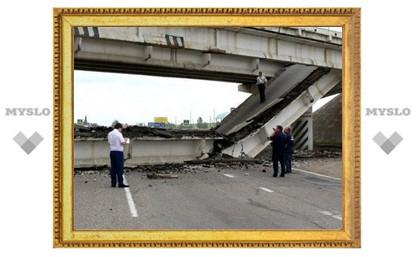 В Тульской области едва не рухнул старый мост