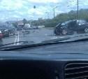 На Павшинском мосту столкнулись четыре автомобиля