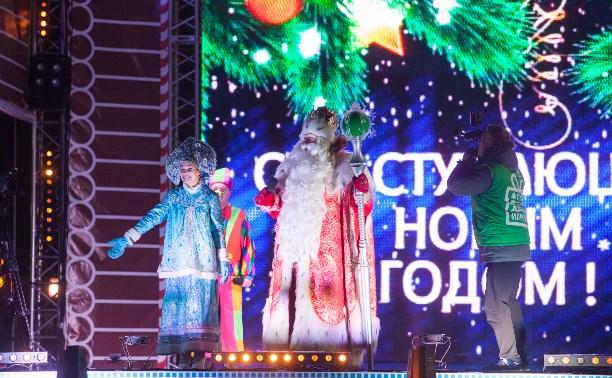 Дед Мороз из Великого Устюга зажег огни на главной елке Тулы
