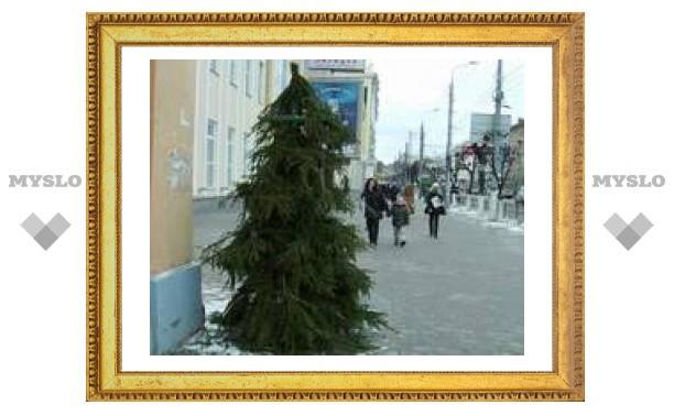 В Туле появились страшные елки