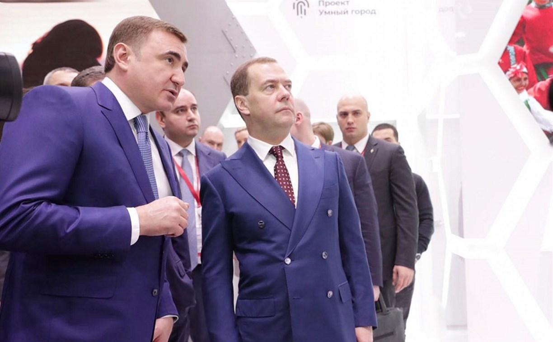 Алексей Дюмин поблагодарил Дмитрия Медведева за поддержку ОЭЗ «Узловая»