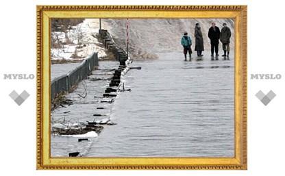 В Туле затоплено 10 мостов