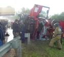 В Алексине грузовик опрокинулся в кювет