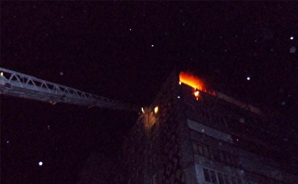 Пожарные спасли ребёнка из горящей квартиры в Советском районе Тулы