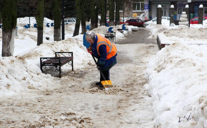 О плохой уборке снега туляки могут сообщить в ЕДДС