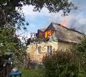 В Заокском районе на пожаре погибла пенсионерка